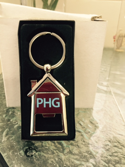 house shaped keyrings for promotional housing group