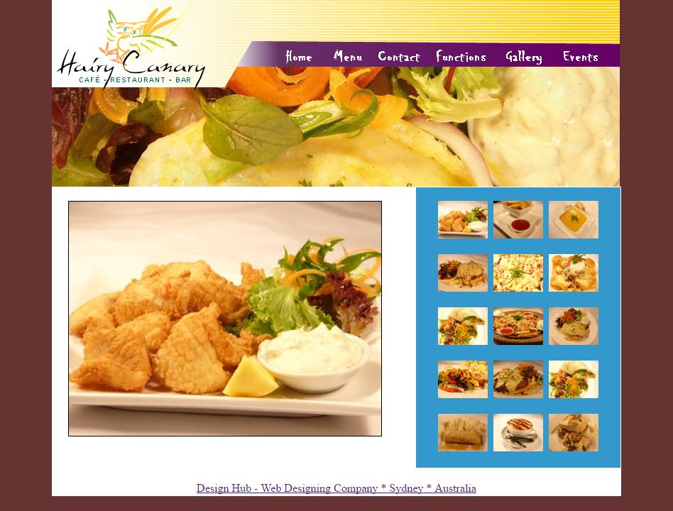 Website Design for Hairy Canary Restaurant, Gymea, South Sydney