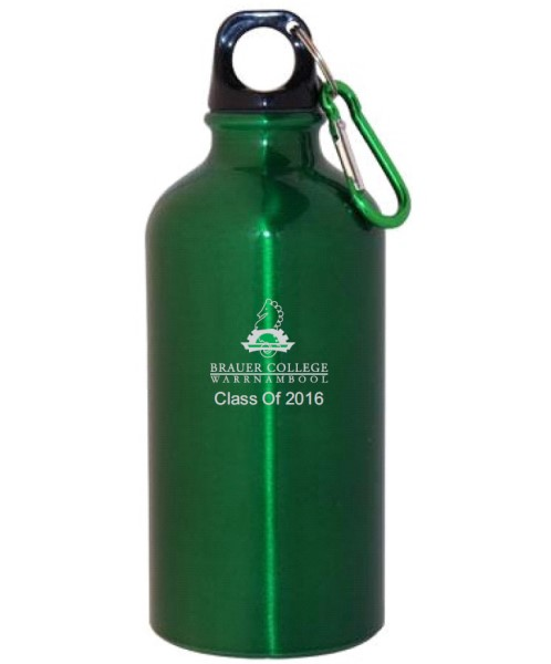 Promotional Drink Bottles for Class of 2016 Brauer College Warrnambool