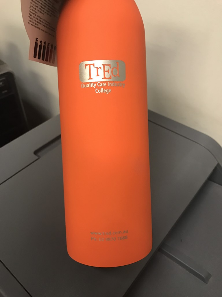Promotional Drink Bottles with logo for TRED