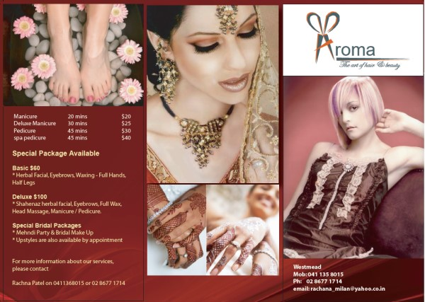 Brochure Design for Aroma Beauty
