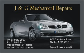 Business cards for Car Mechanic Repair, Carlton