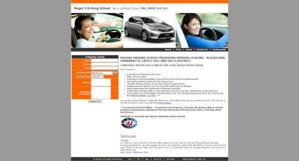 Website for Driving School Sydney