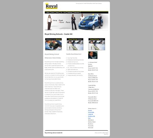 Royal Driving School Website