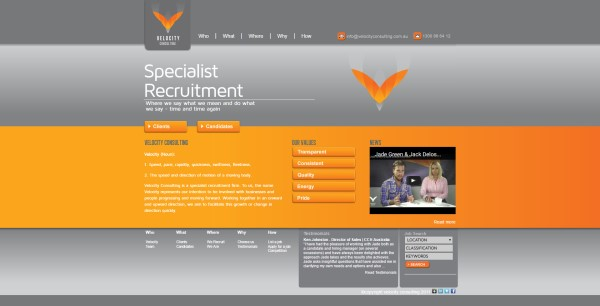 Website Design - Velocity Consulting - Sydney CBD