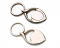 Fish Shaped With Oval Metal Keyring