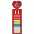 Love Heart Dye Cut Bookmark Ruler With Noteflags