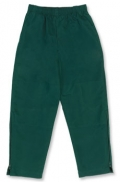 Kids Double Knee Microfibre Straight Leg Track Pants With Zips In Legs