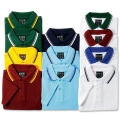 Kids Short Sleeve Polo With Twin Stripe Collar