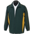 Kids Sports Jacket With Inserted Front Panels Contrast Piping