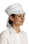 Food Industry Peak Cap With Hair Net