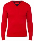 Cotton Knit European Fit Jumper Red